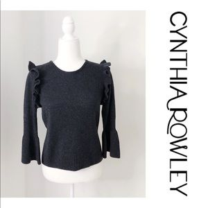 NWT Cynthia Rowley Charcoal Gray Knitted Sweater